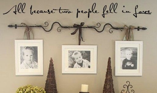 Wall decal quote All because two people fell by VinylWallQuotes