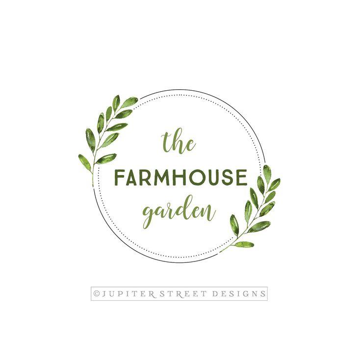 Laurel Logo-Leaf Logo-Botanical Logo-Wreath Logo-Nature Logo-Branding-Etsy Logo-Wedding Logo-Photography Logo-FREE font change