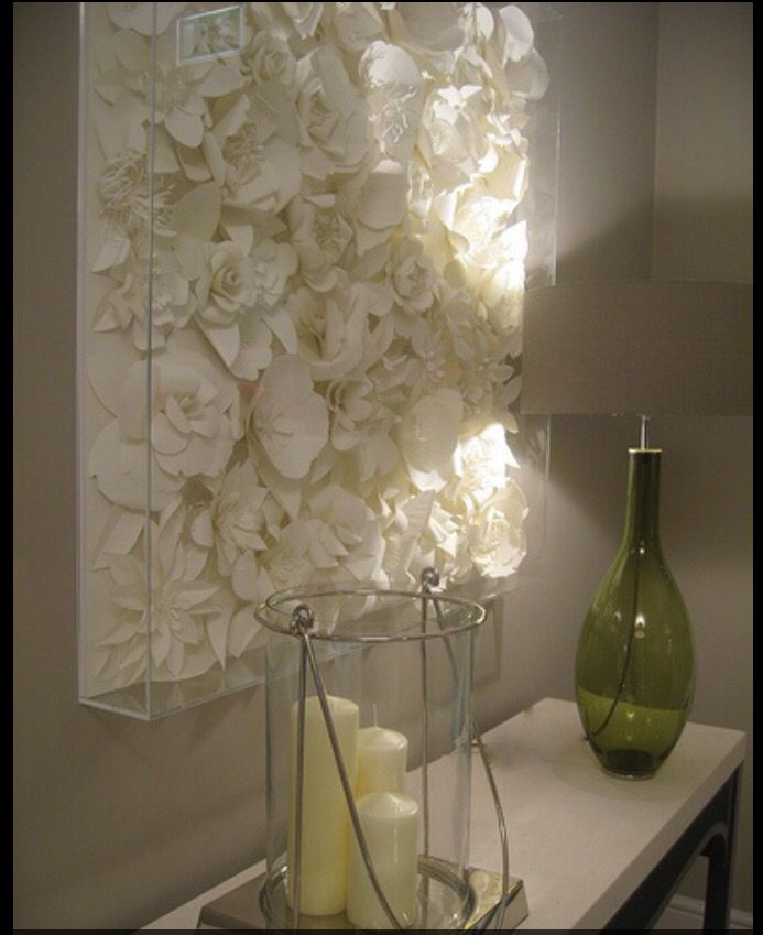 Amazing flower wall feature. Perfect for any room in the home: