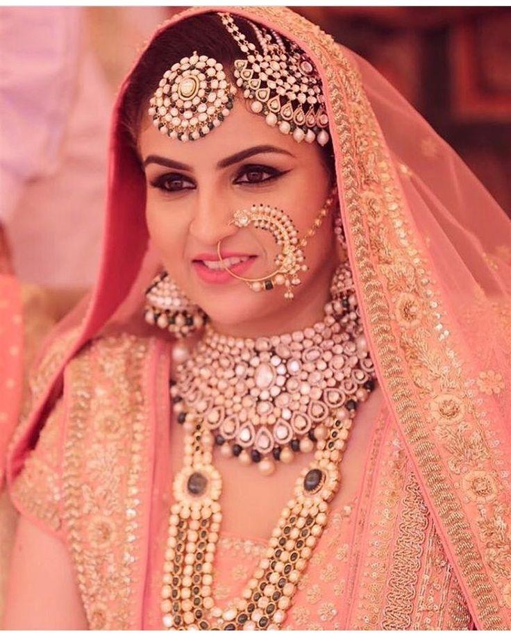 Muslim bride in pink