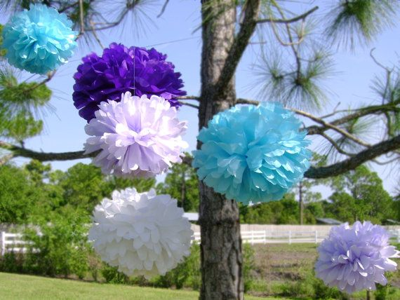 10 Custom Tissue Paper Pom Poms for any Occasion by MakelleDesigns, $18.00