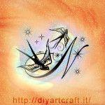 Rondini e maiuscola N con scintille idea tattoo diyartcraft.it