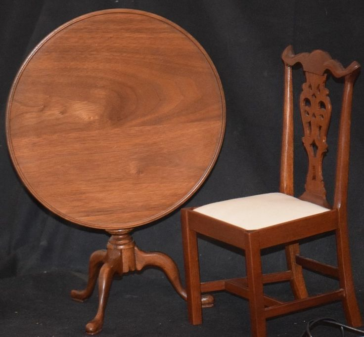 Charming Vintage Doll Table U0026 Chair Fred Laughon Tilt Top Table Wood