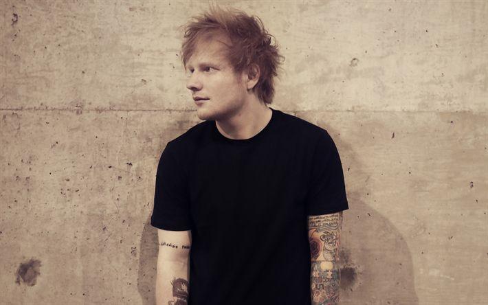 Descargar fondos de pantalla Ed Sheeran, sesión de fotos, el cantante Británico, tatuajes, estrellas jóvenes