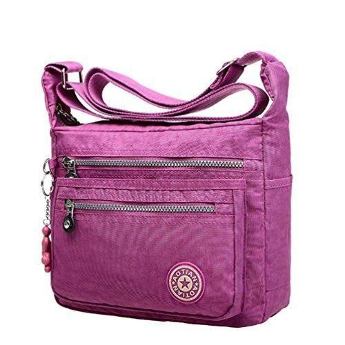 Oferta: 8.94€. Comprar Ofertas de LHWY Bolsas de Mensajero de Nylon Impermeable Para Mujer (Luz violeta) barato. ¡Mira las ofertas!
