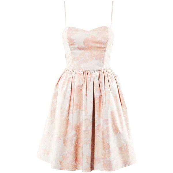 H&M Dress (€11) ❤ liked on Polyvore featuring dresses, vestidos, short dresses, sukienki, women, pink corset, mini dress, short corset dresses and pink dress