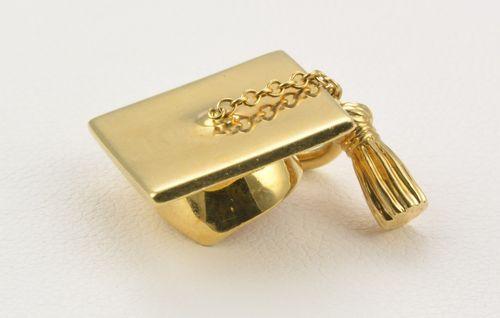 Tiffany Amp Co 18k Yellow Gold Graduation Cap With Tassel