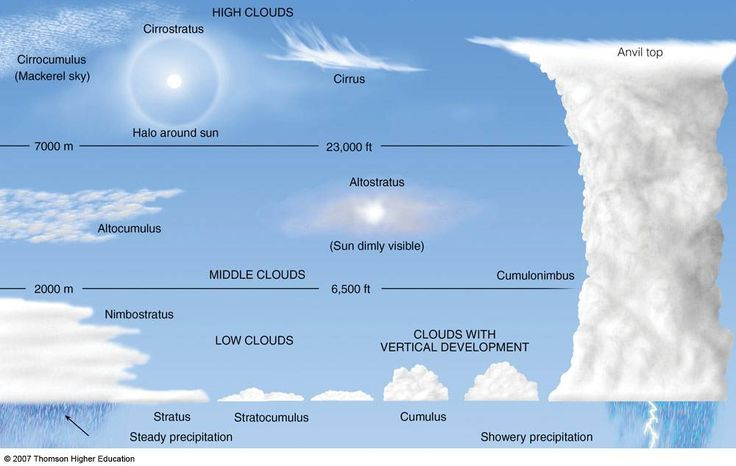 Different type of clouds to look out for when walking out doors.