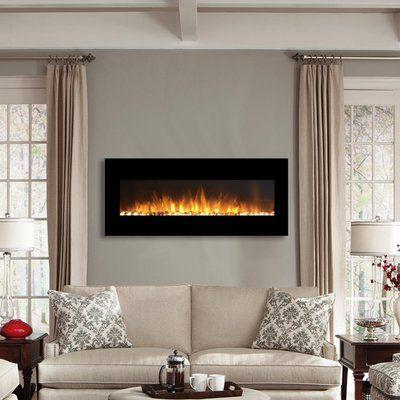 Orren Ellis Baretta Wall Mounted Electric Fireplace Wall Mounted Fireplace Home Fireplace Electric Fireplace