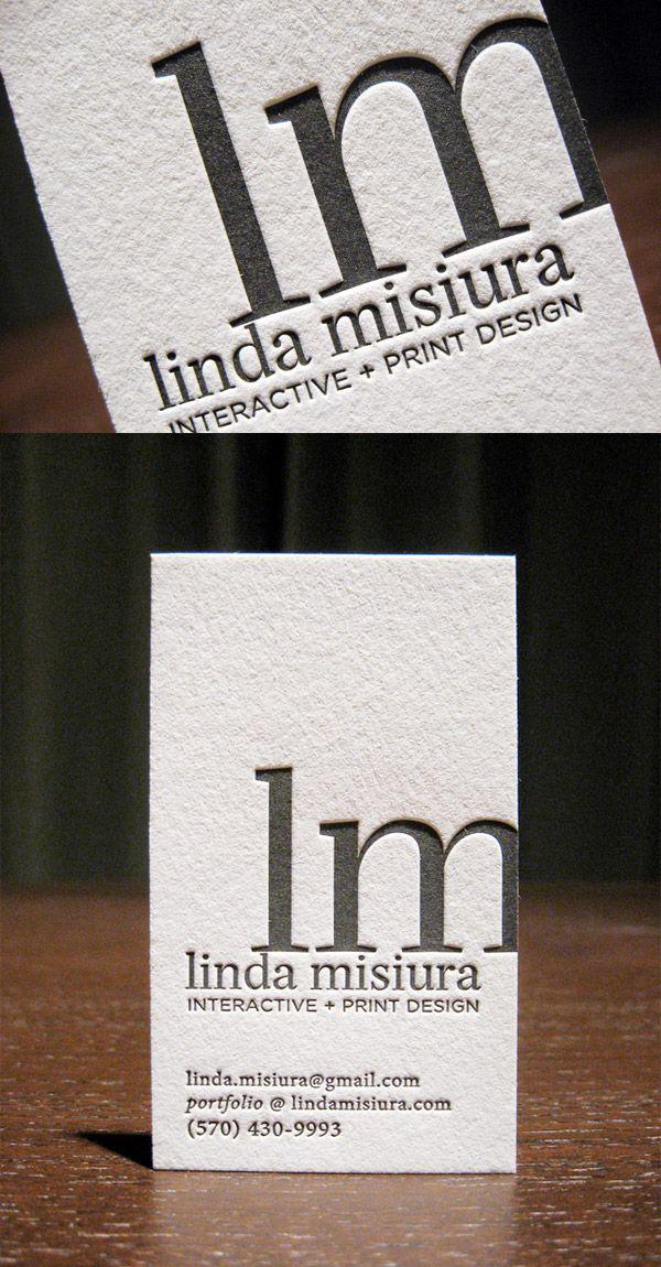 Linda Misiura's LetterPress Business Card