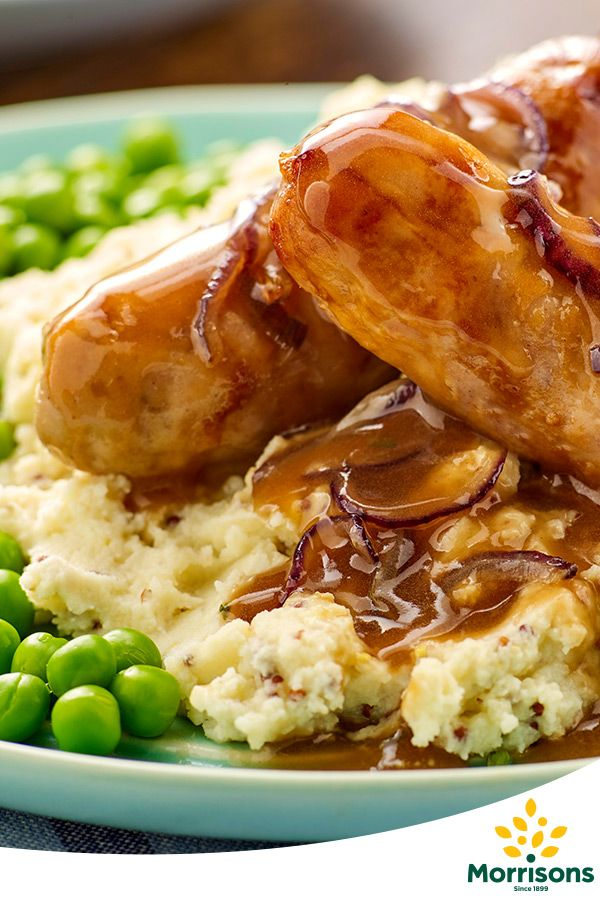 In the mood for comfort? Try our Sausage and mustard mash with red onion gravy recipe from our Emotion Cookbook