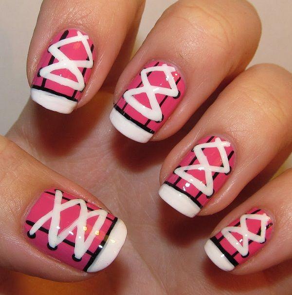 pink  nail art 42 - 65 lovely Pink Nail Art Ideas  <3 <3