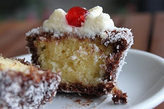 Australia Day Lamington Cupcake