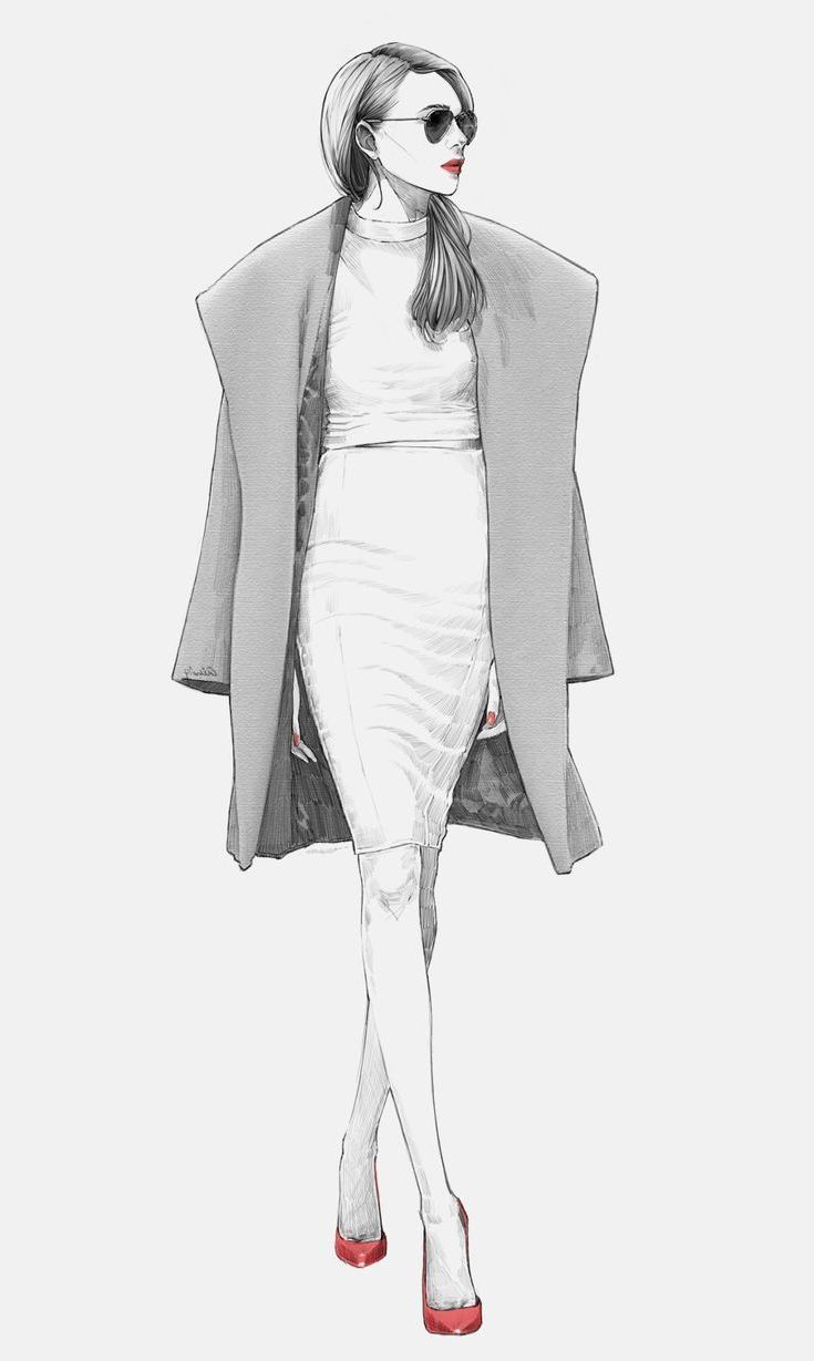 Fashion illustration \u2013 chic outfit sketch // Alex Tang