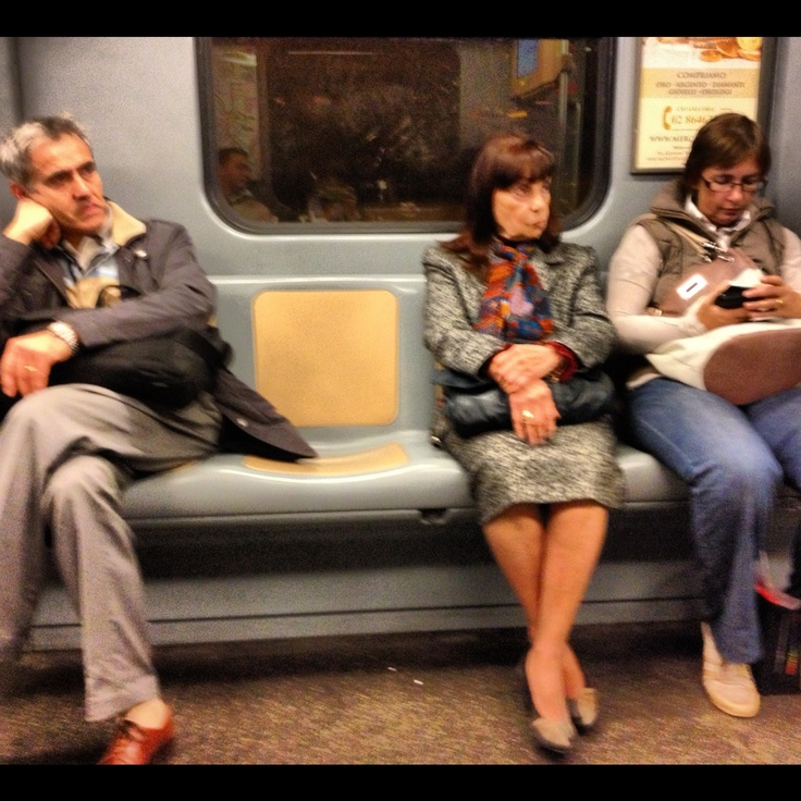 25. People #octoberphotoaday #Milan #subway