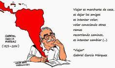 Viajar (Gabriel García Márquez) poema que invita a viajar, a marcharse de casa recorriendo caminos e intentar cambiar