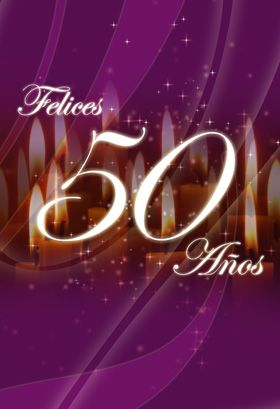 """""""Felices 50"""" printable card. Customize, add text and photos. Print for free!"""