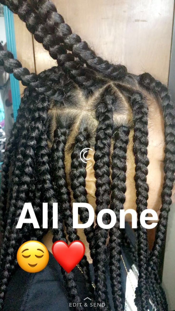 Big Braids To The Side