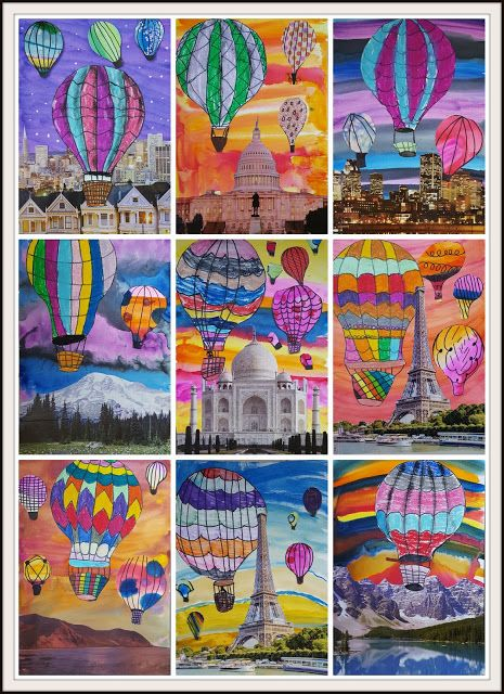 Surreal Hot Air Balloon Collages II