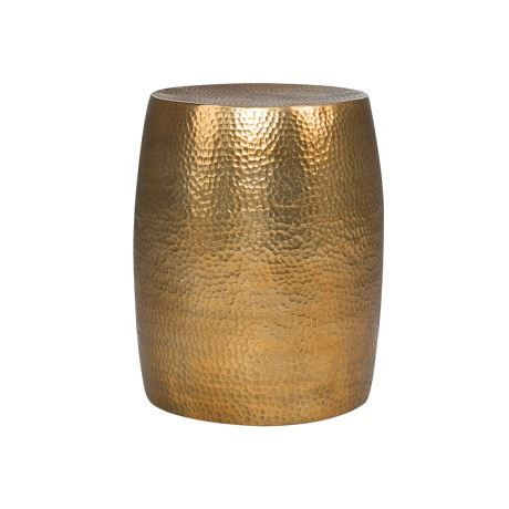 Hammered Drum 38cm Side Table Side Tables Table Drum