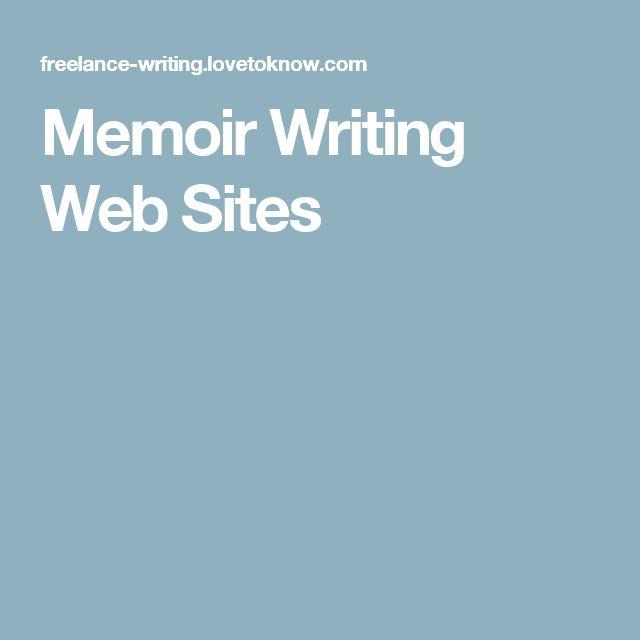 Memoir Writing Web Sites