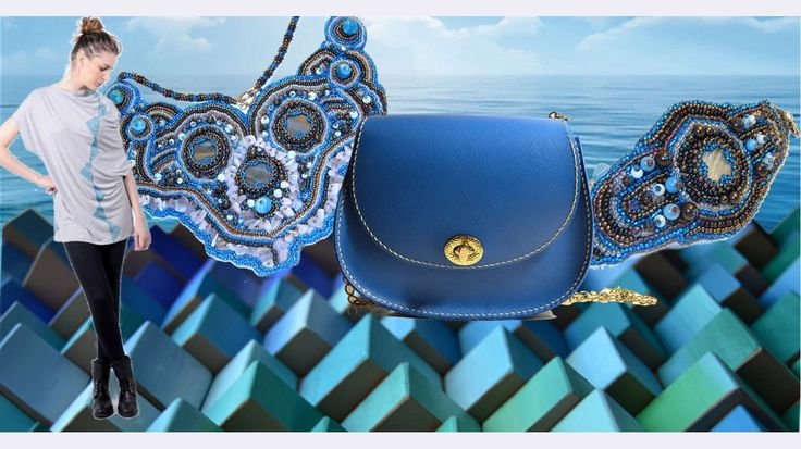 #recomandare online gallery albastru ocean #handmade #arta #Embroidering #pictura