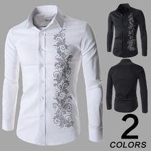 2014 nuevos hombres de Polo camisa de manga corta Floral bordes de un solo pecho camisas masculinas Polo más el tamaño M-XXXL(China (Mainland))                                                                                                                                                                                 Más