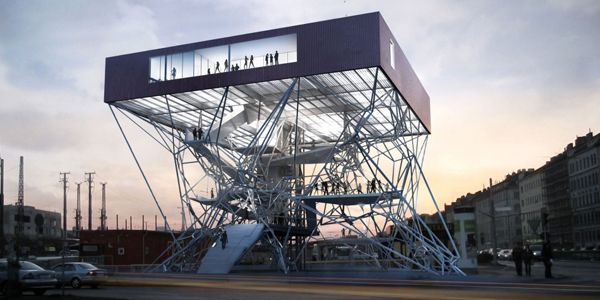 Infobox for Vienna is an Elevated Volume with Multiple Viewing Platforms / KARAMBA3D - eVolo | Architecture Magazine