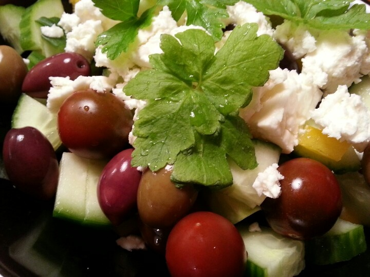 Cherry Tomato Cucumber Feta Salad Recipes — Dishmaps
