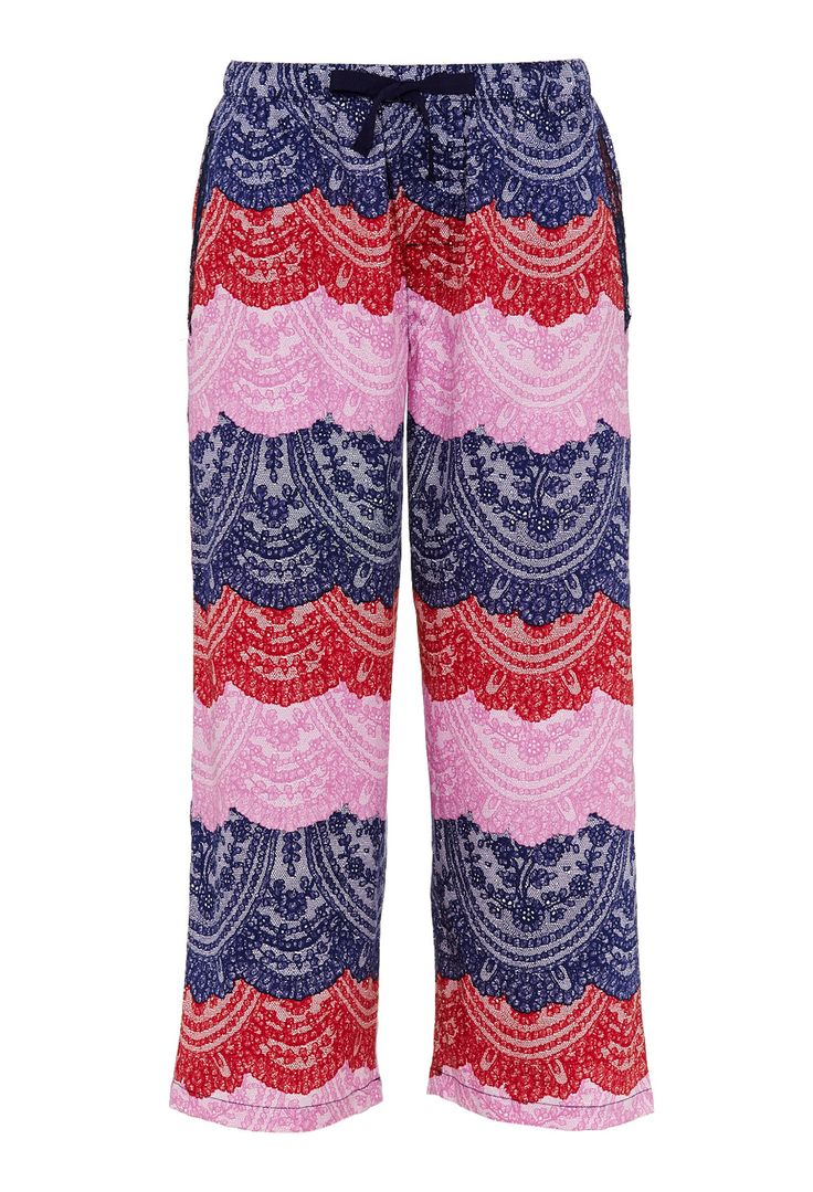 Paris Lace Stripe Pant | Peter Alexander