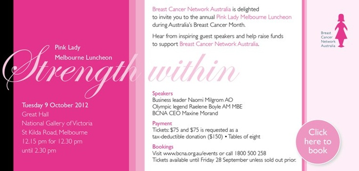 Pink Lady Luncheon Invite