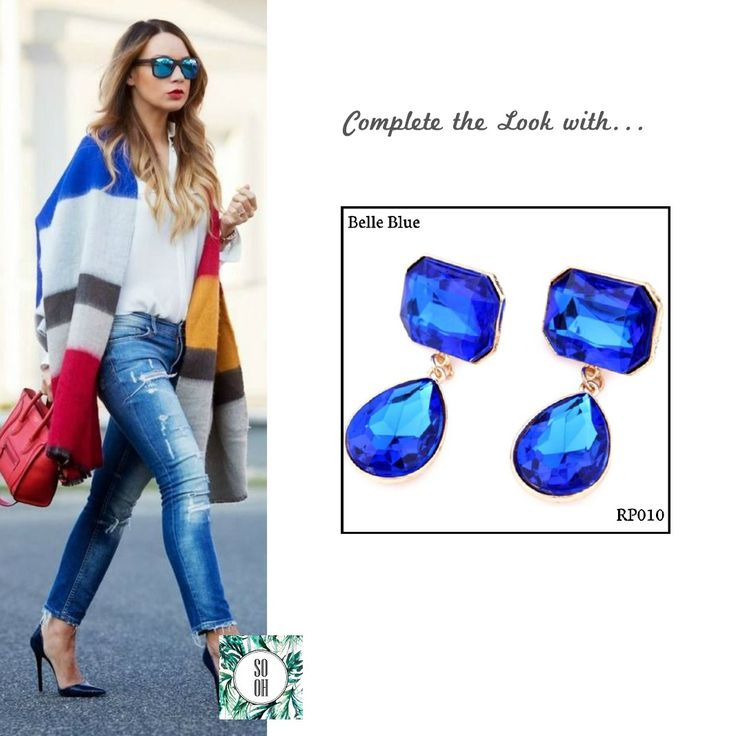 Ref: RP010 Belle Blue Medidas: 5.5 cm x 2.5 cm So-Oh: 10.99  #sooh_store #onlinestore #style #inspiration #styleinspiration #brincos #earrings #fashion #shoponline #aw2016 #aw1617 #winterstyle
