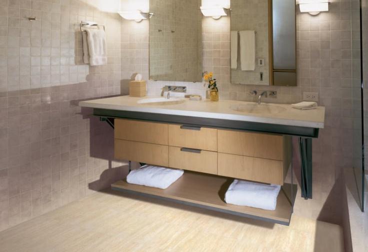 "Unfinished Furniture Boise COREtec Plus Ankara Travertine 50LVT104 12"" x 24"" Luxury Vinyl Tile ..."
