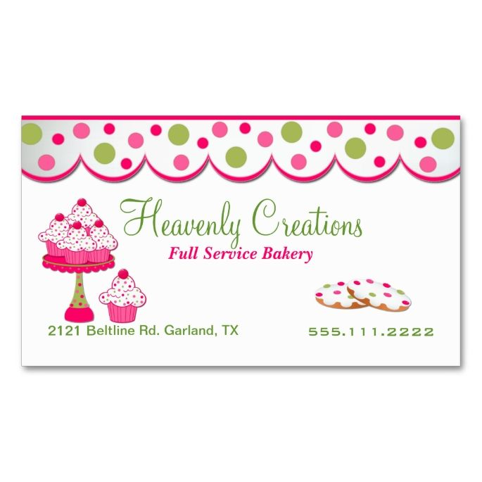 Baking business cards pertamini baking business cards reheart Choice Image