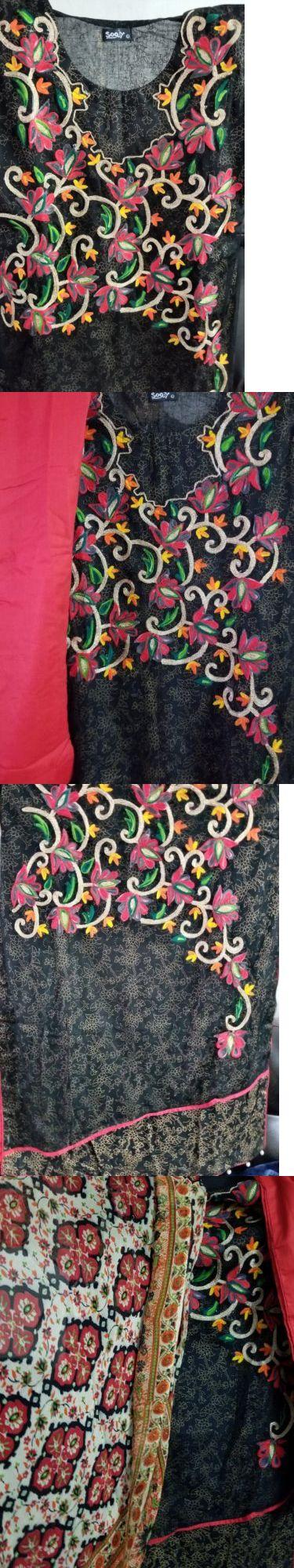 Salwar Kameez 155249: Pakistani Indian Designer Cotton Lawn Stitched Shalwar Kameez Dopatta Large New -> BUY IT NOW ONLY: $46.9 on eBay!