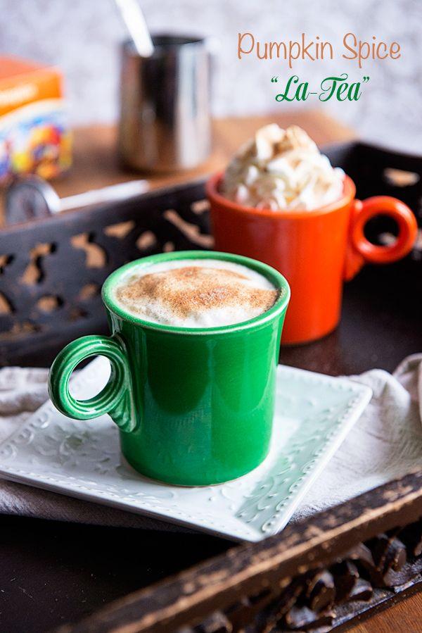 Pumpkin Spice Tea Latte Recipe from dineanddish.net