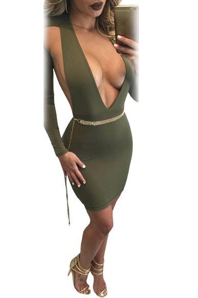 Vücudu Saran Likralı Yapısıyla Şık ve Rahat Derin Göğüs Dekolteli Özel Tasarımı ile En Sexi Elbise Kemer Dahildir Tüm Kadınsı Hatlarınızı Ortaya Çıkartır
