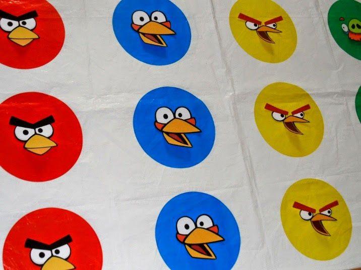 DIY Angry Birds Twister Mat