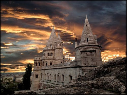 The Halászbástya (Fisherman's Bastion) is a terrace in neo-Gothic and neo-Romanesque style situated on the Buda bank of the Danube, on the Castle hill in Budapest, Hungary. It was designed and built between 1895 and 1902 on the plans of Frigyes Schulek.