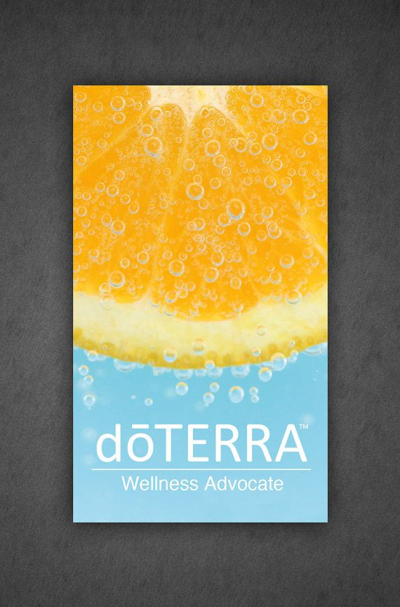 doTerra Business card Design, Full Color professionally printed cards, Double Sided Oranges