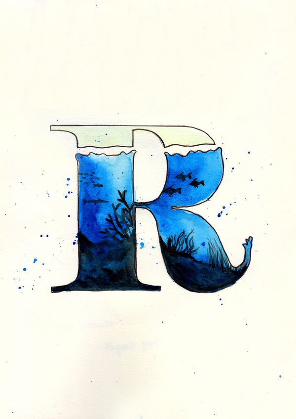 An oceany R! #typography