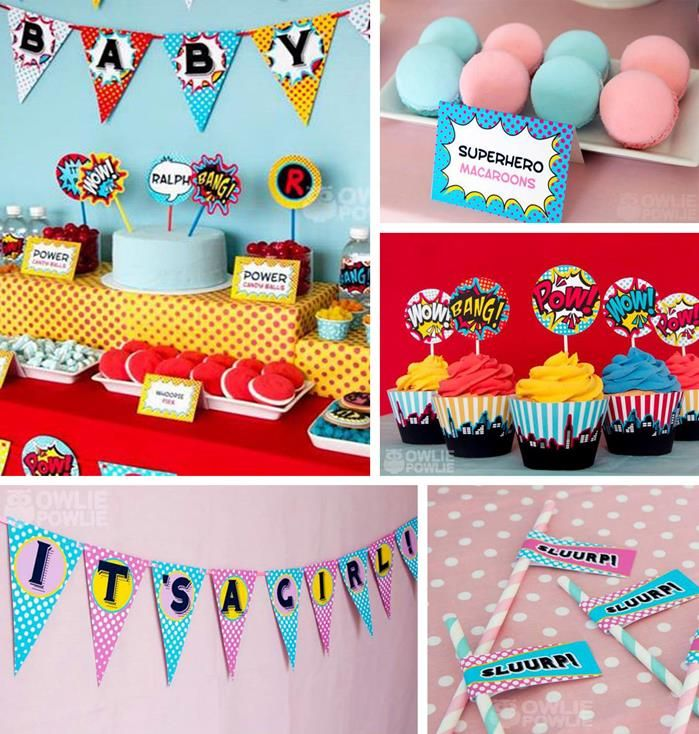 85 best Superhero Baby Shower images on Pinterest | Birthdays ...