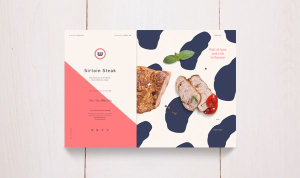 W - Steak on Packaging Design Served