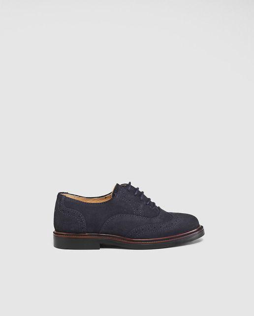 Zapatos de cordones de niño Thousand de color azul marino  con cierre de cordones