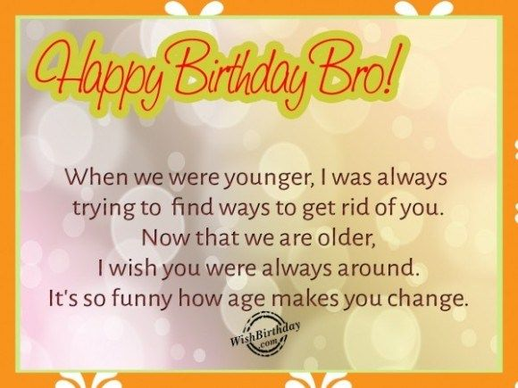 55 Lovely Birthday Quotes For Elder Birthday Wishes For Brother