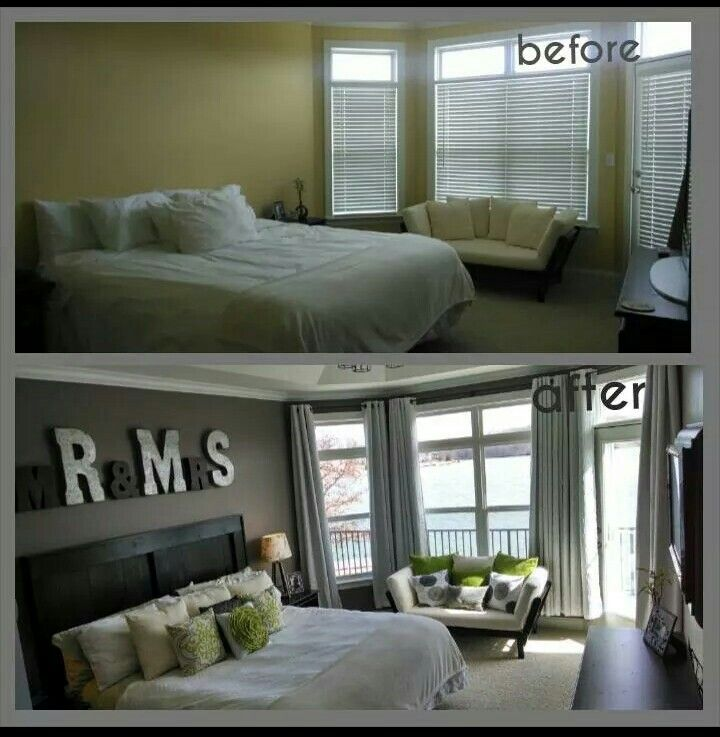 affordable room makeover charcoaled walls custom made from scrap wood furniture letters
