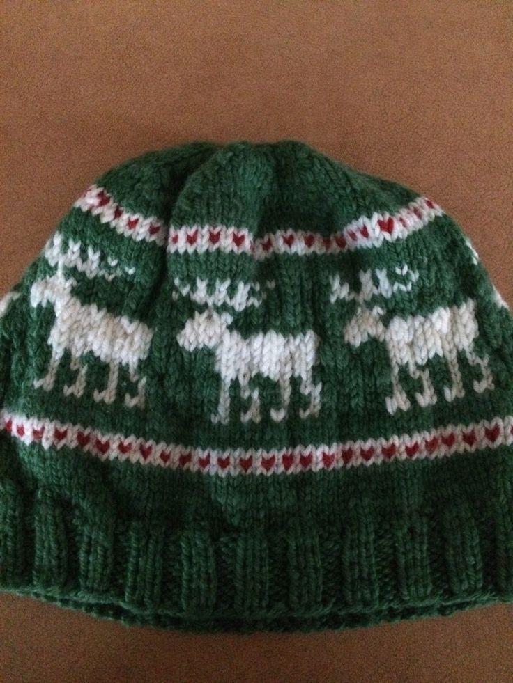 moose fair isle hat FREE