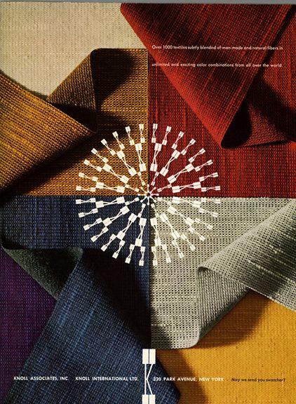 Knoll Textiles Advertisement by Herbert Matter, 1961