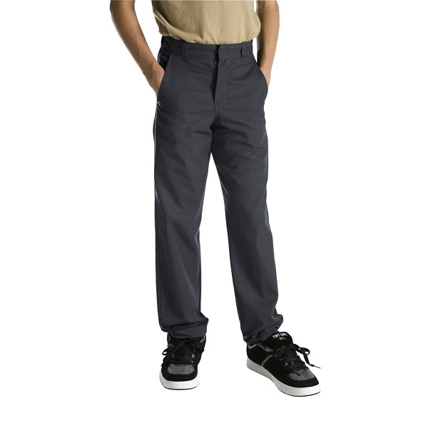 #clothing #zarclothing #dickies #schooluniforms #workuniforms #levis #promdresses http://ZarClothing.com: Dickies 56562 Charcoal - Boys' Plain Front Pants (Sizes 8-20)>>>>>>