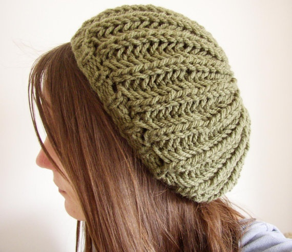 slouchySlouchy Beret, Olive Green, Holy Knits, Yearround Style, Years Round Style, Knits Hats